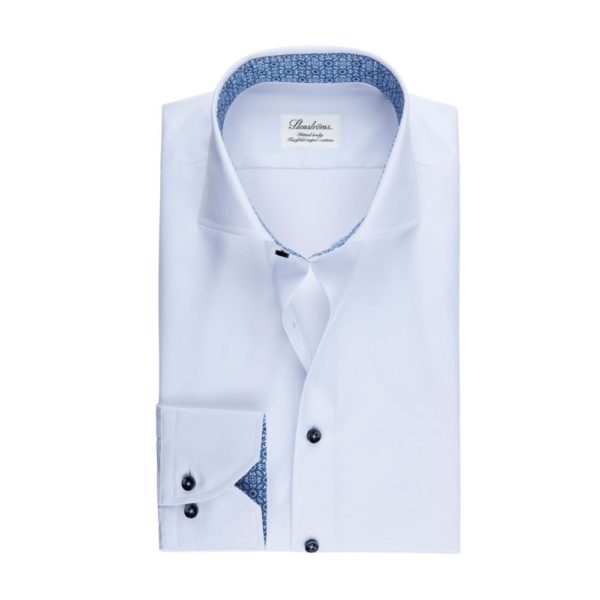 Stemstroms White shirt Contrast collar front