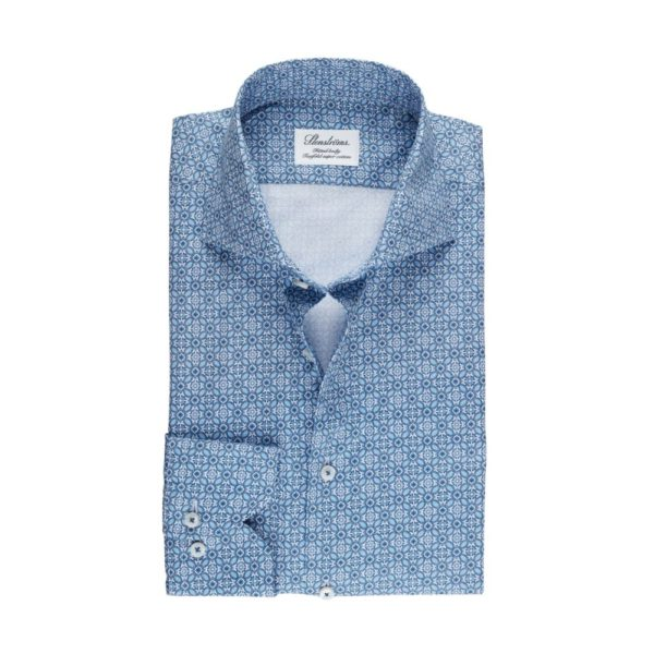Stenstroms Blue shirt front