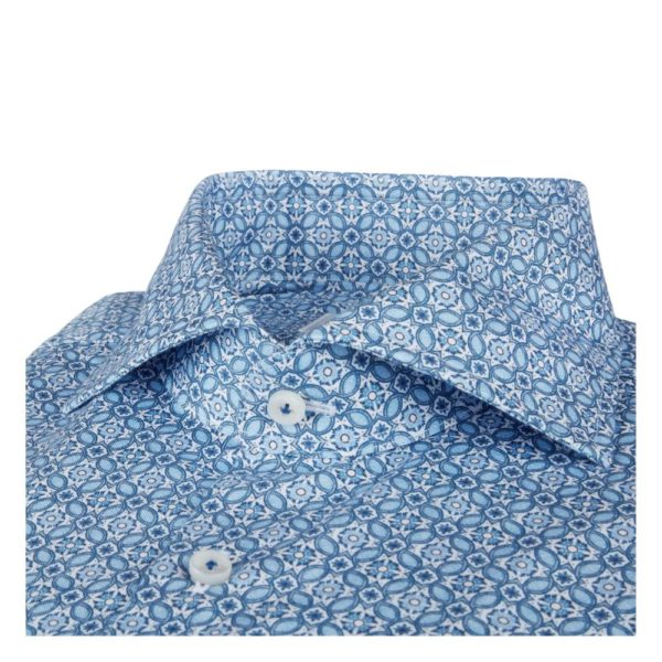 Stenstroms Bluue shirt collar
