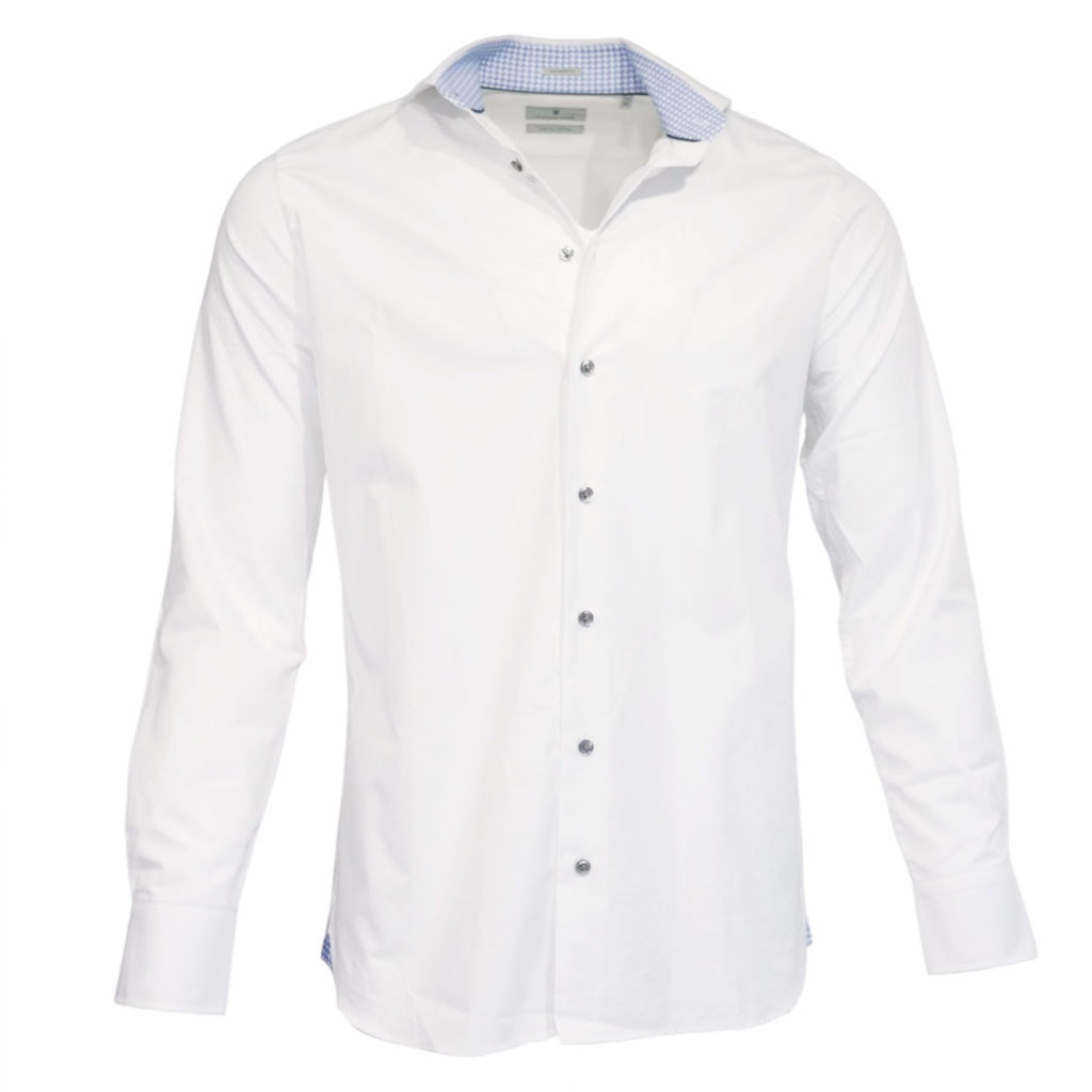 Thomas Maine White Shirt with contrasting collar