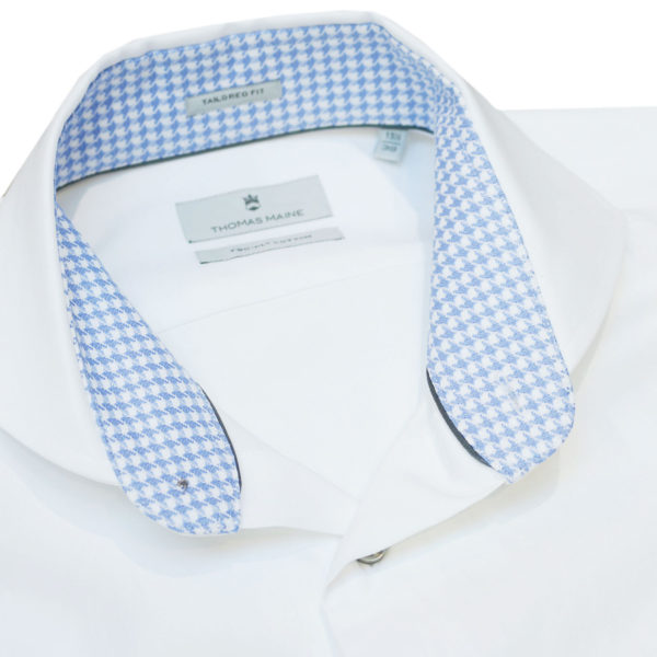 Thomas Maine White Shirt with contrasting collar1