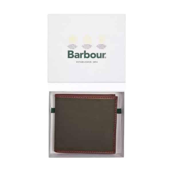 barbour drywax billfold wallet
