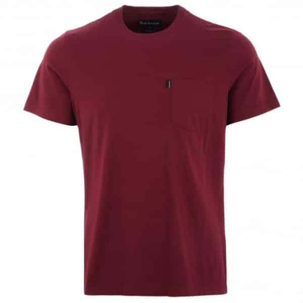 barbour essential pocket t shirt ruby p41046 351732 medium