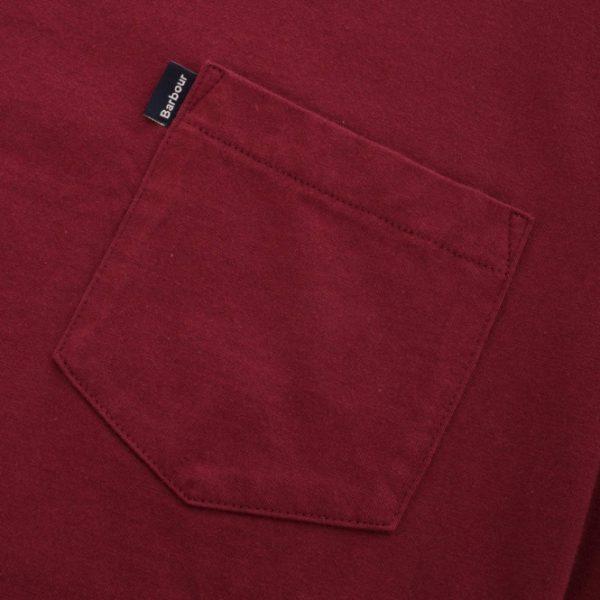 barbour essential pocket t shirt ruby p41046 351747 medium