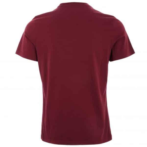 barbour essential pocket t shirt ruby p41046 351752 medium