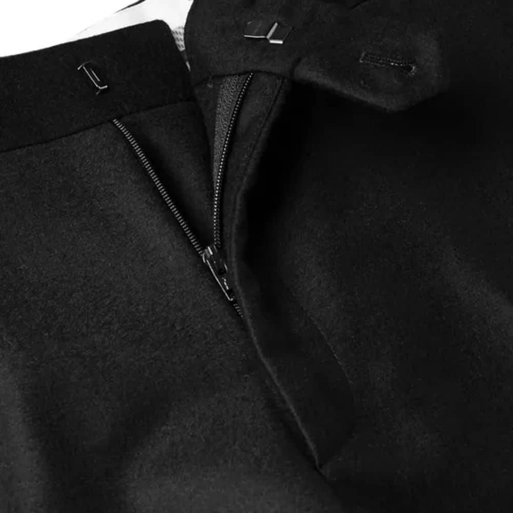 canali black flannel zip
