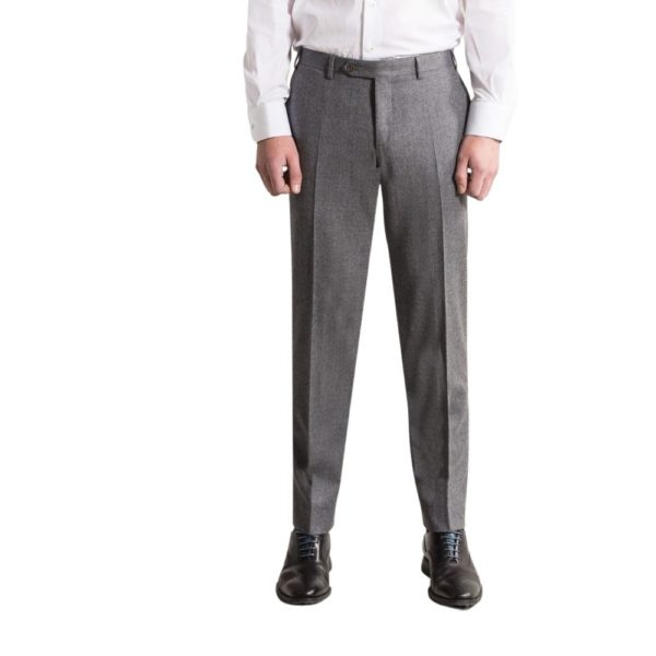 canali grey flannel trousers 1