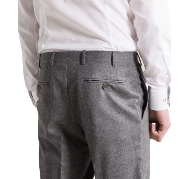 canali grey flannel trousers back
