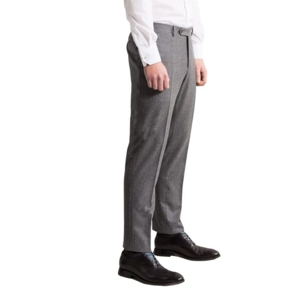 canali grey flannel trousers side on 1