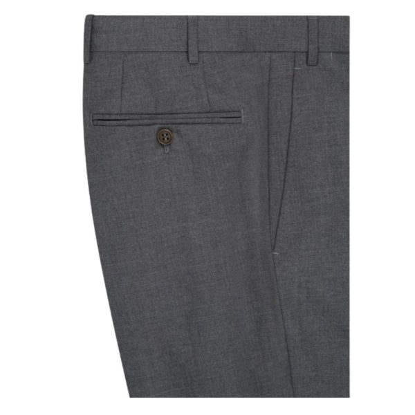 canali mid grey side trousers