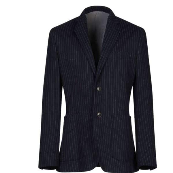 circle of gentlemen chalkstriped jacket