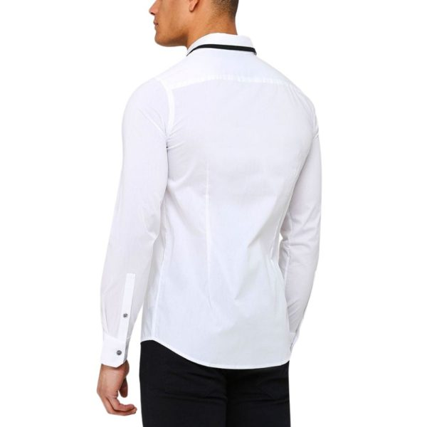 emporio armani white shirt with black contrast on collar 1