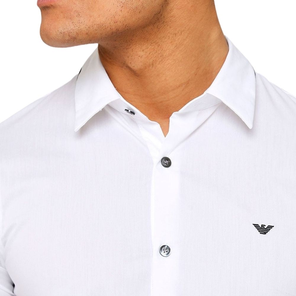 emporio armani white shirt with black contrast on collar 2