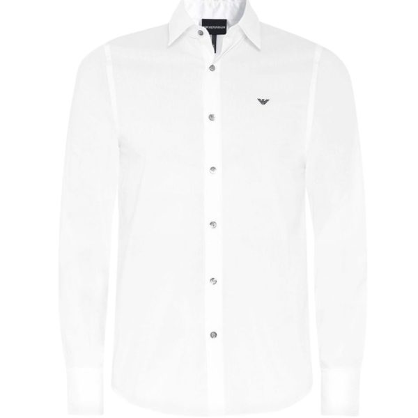 emporio armani white shirt with black contrast on collar 3