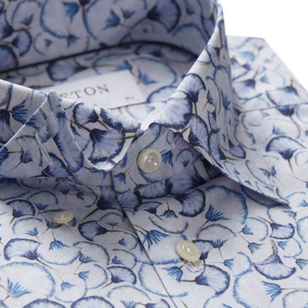 eton blue papyrus print shirt p1679 21897 image