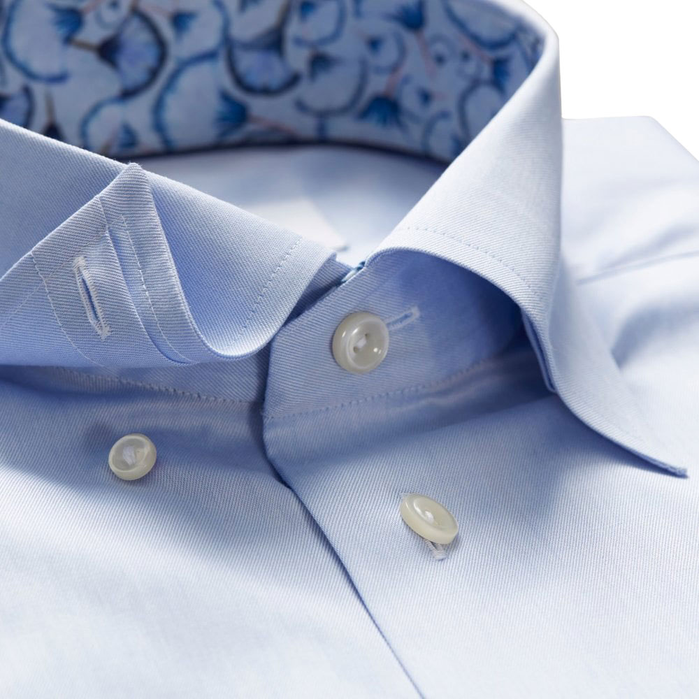 eton blue papyrus print shirt