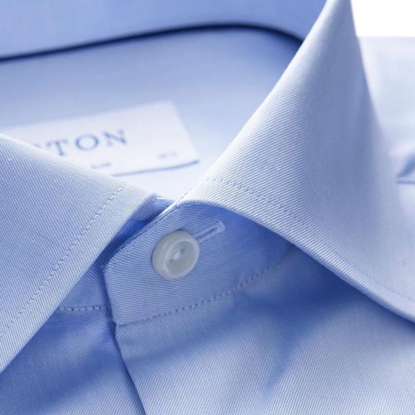 eton of sweden Blue Light Blue Signature Twill Shirt Super Slim Fit