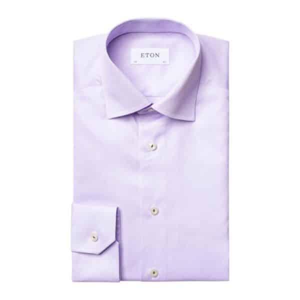 eton shirt royal twill light purple