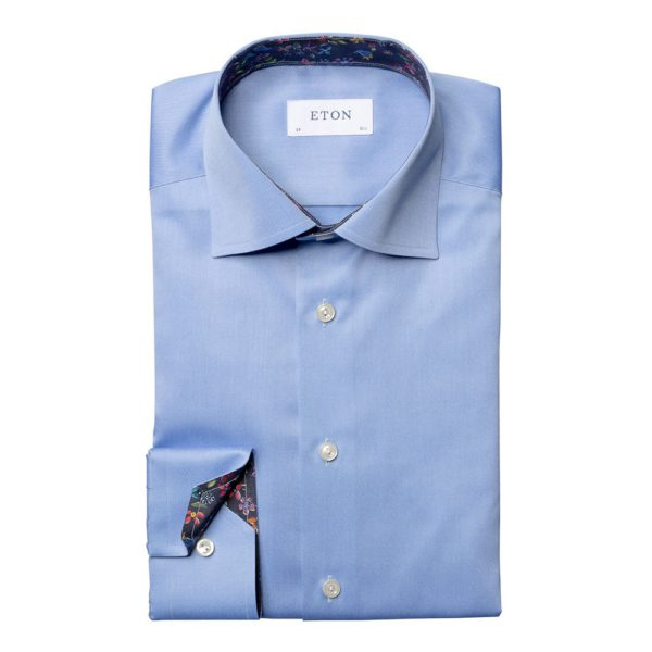 eton shirt valley of flowers twill