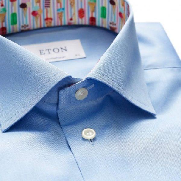 eton shirts contemporary fit light blue shirt with ice cream trim 30000046123 p26444 128381 medium