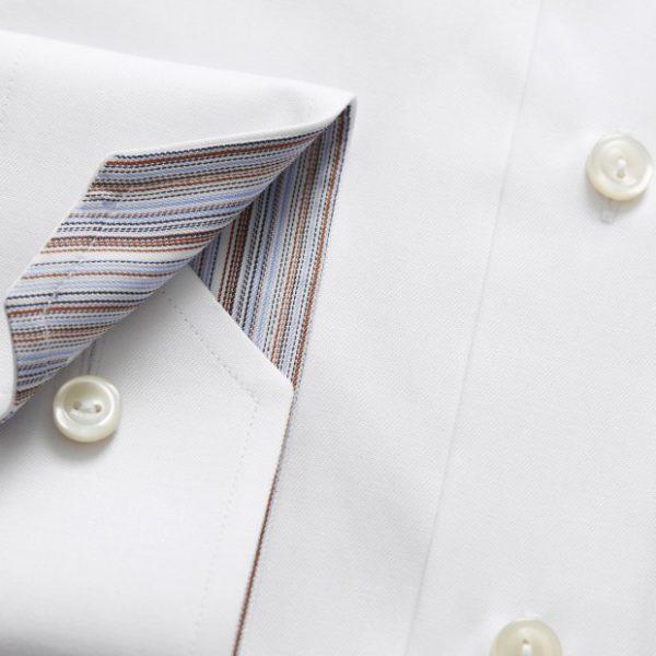 eton striped detail shirt in white cuff