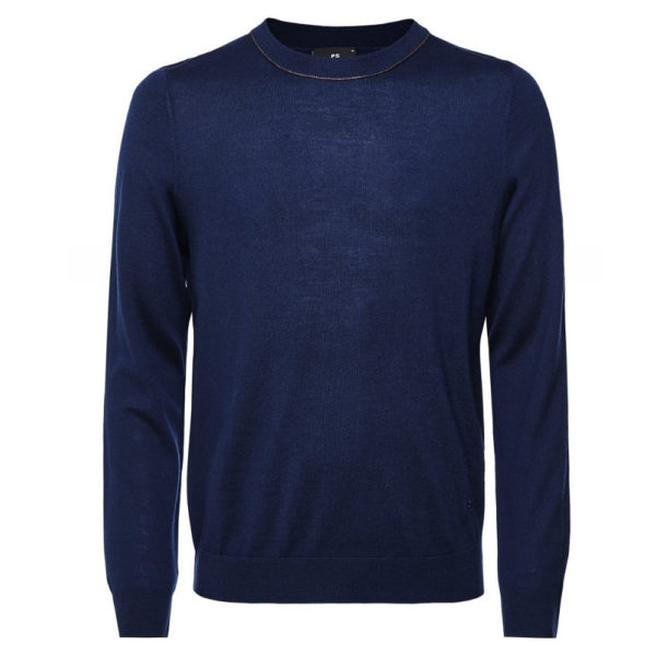 paul smith navy crew neck pullover pullover