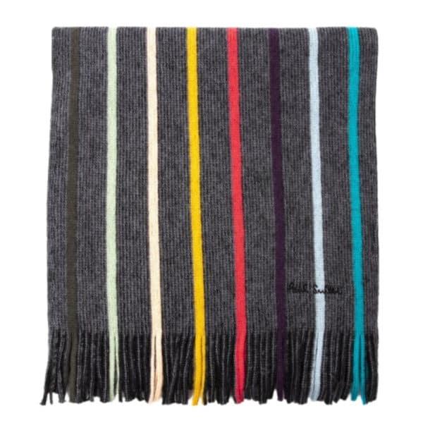 paul smith twist artist grey scarf