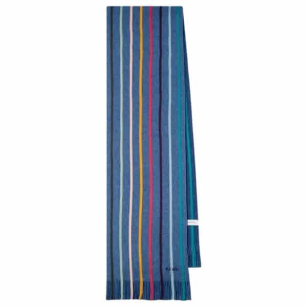 paul smith twisted navy scarf