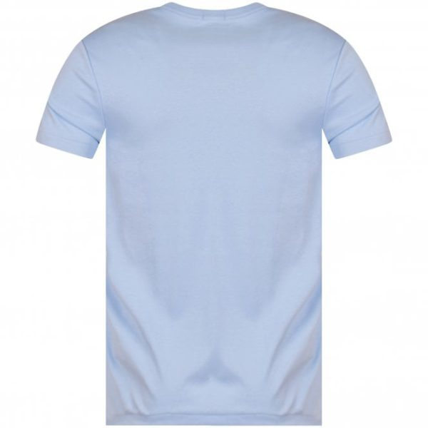 polo ralph lauren blue logo custom slim fit t shirt p17272 43700 medium