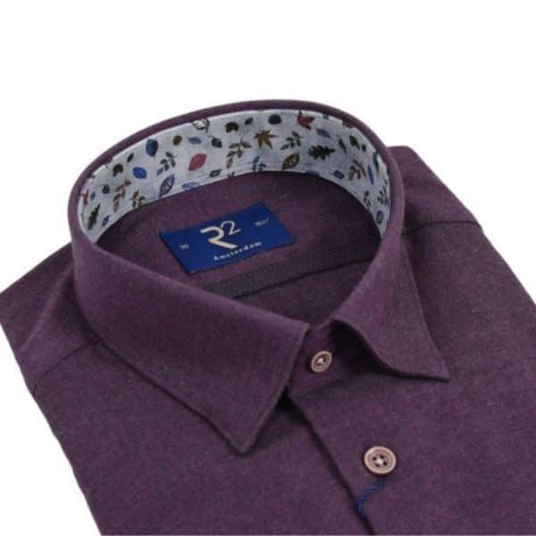 r2 shirt purple flannel shirt collar 2