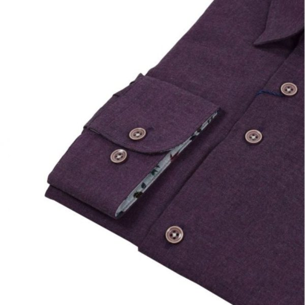 r2 shirt purple flannel shirt cuff 1