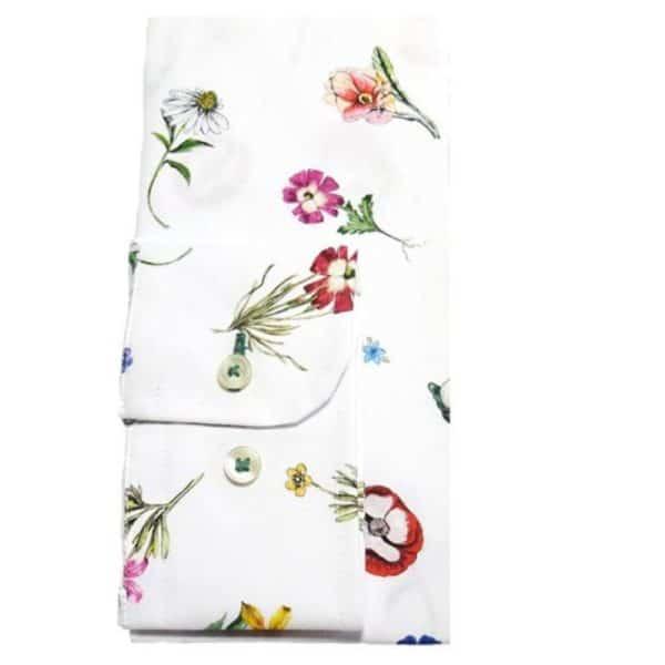 r2 shirt white floral shirt cuff