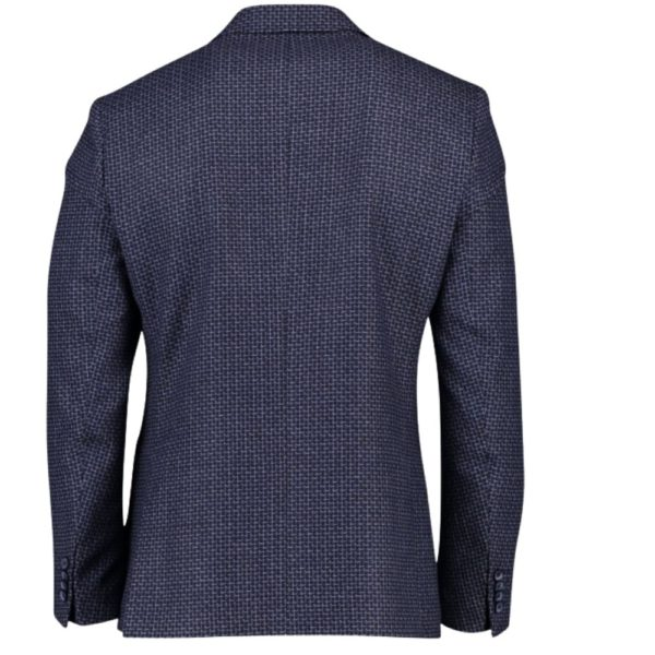 roy robson navy check jacket 1