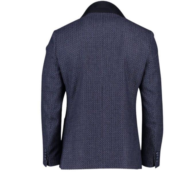 roy robson navy check jacket 3
