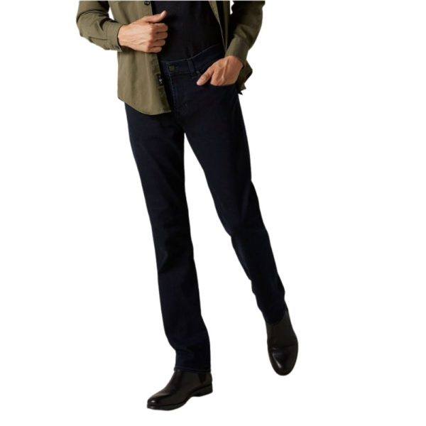 7 FOR ALL MANKIND SLIMMY LUXE PERFORMANCE BLUE BLACK