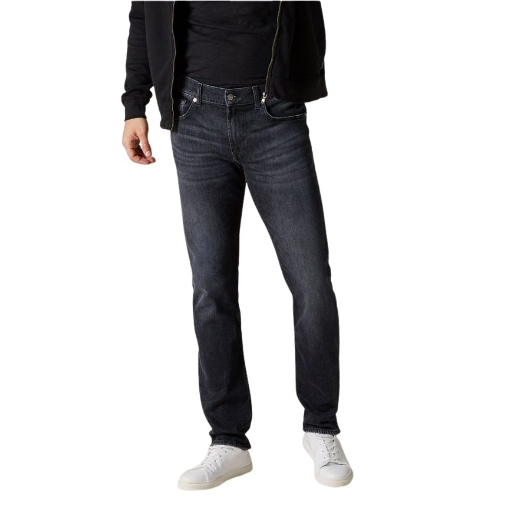 7 FOR ALL MANKIND SLIMMY LUXE PERFORMANCE WASHED BLACK