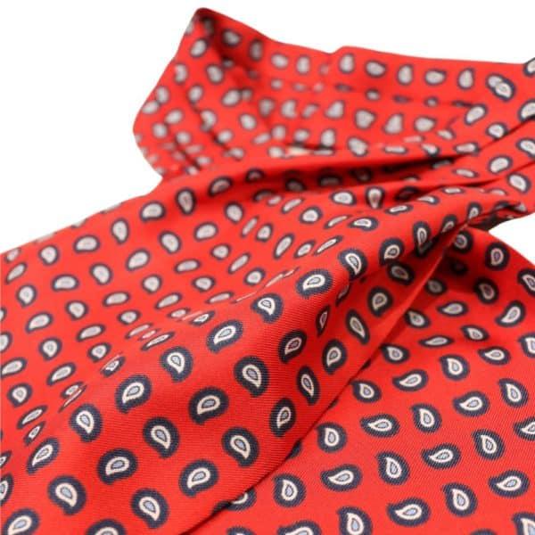 Amanda Christensen Cravat Paisley Red 2