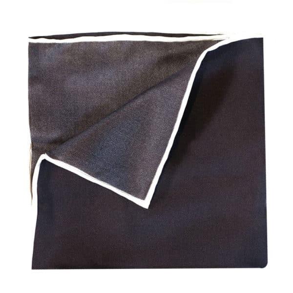 Amanda Christensen pocket square black silk