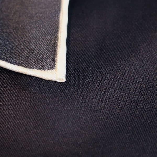 Amanda Christensen pocket square black silk fabric
