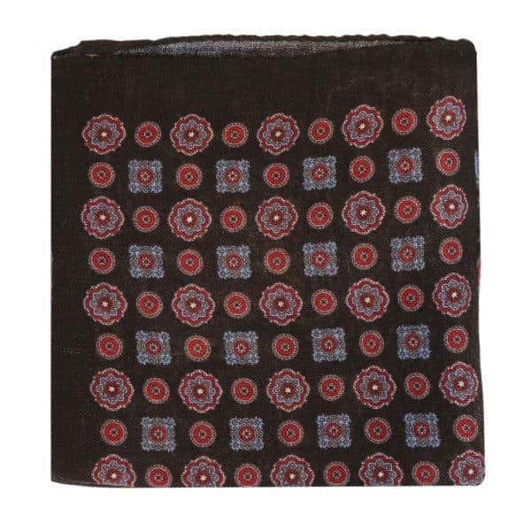 Amanda Christensen pocket square black wool 4 pattern 1