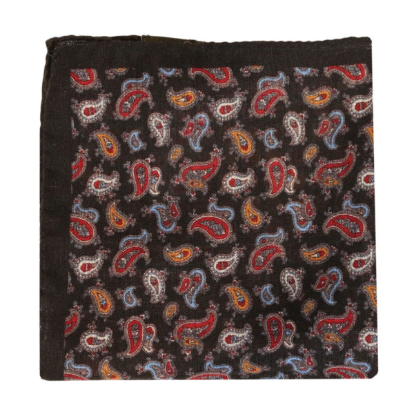 Amanda Christensen pocket square black wool 4 pattern 4