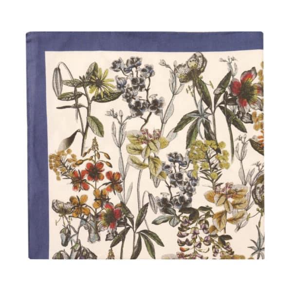 Amanda Christensen pocket square botanics white blue