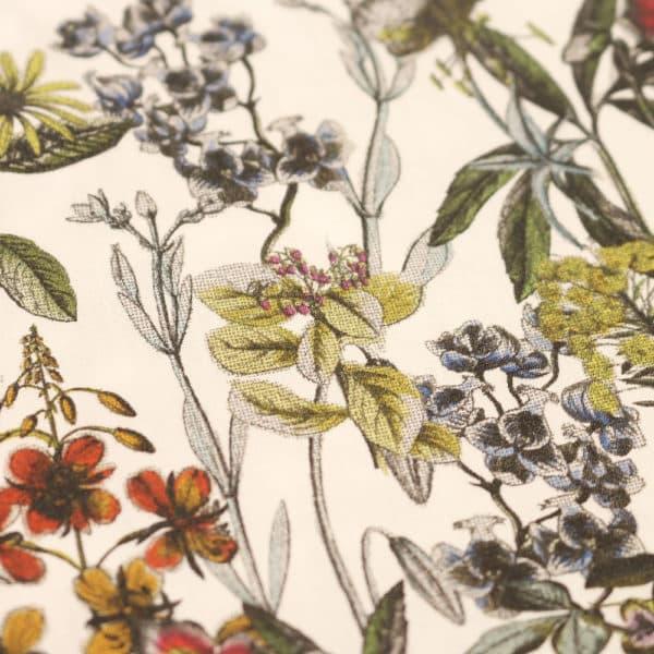 Amanda Christensen pocket square botanics white blue fabric