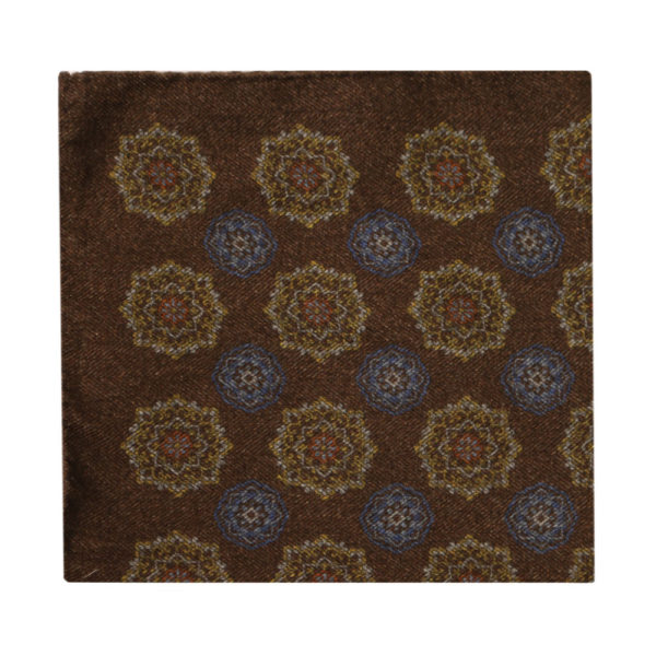 Amanda Christensen pocket square brown wool