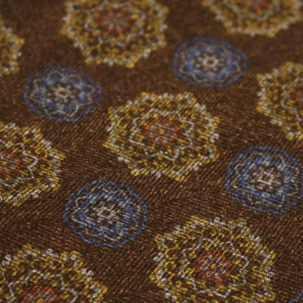 Amanda Christensen pocket square brown wool fabric