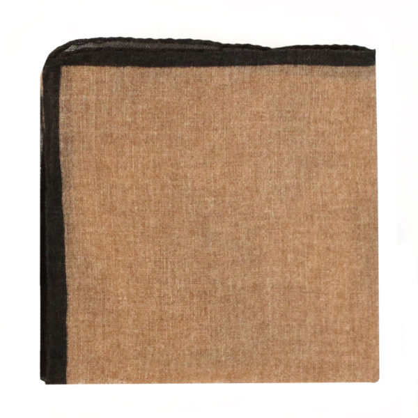 Amanda Christensen pocket square creme linen