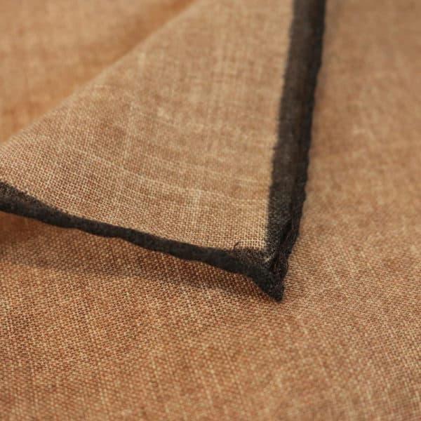 Amanda Christensen pocket square creme linen fabric