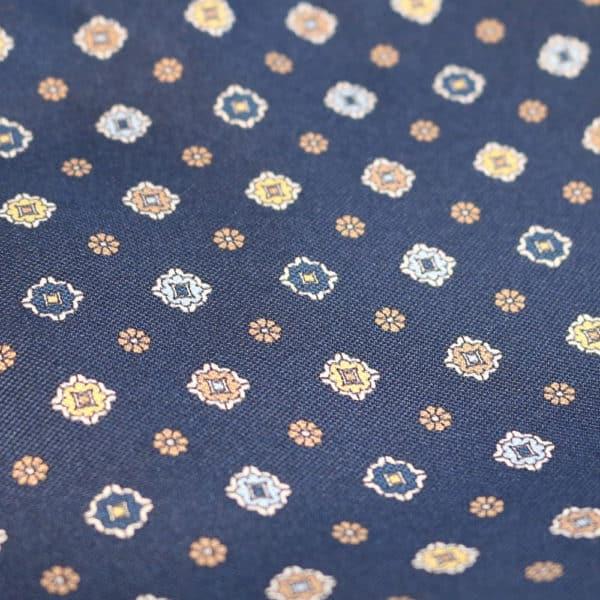 Amanda Christensen pocket square denim look flower fabric