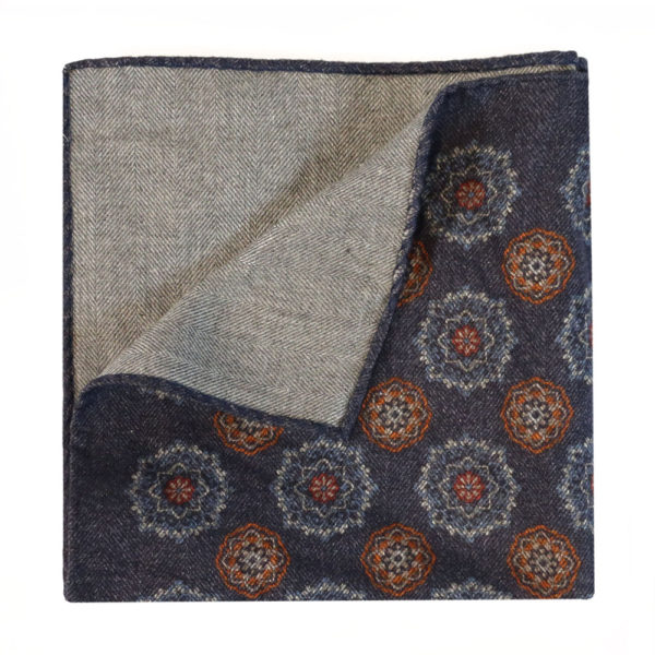 Amanda Christensen pocket square denim look wool 2
