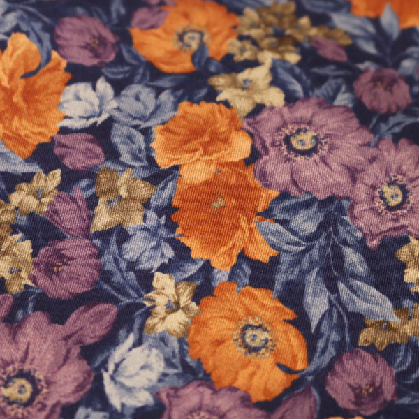 Amanda Christensen pocket square flower garden fabric